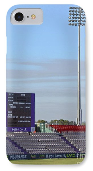 Ageas Bowl Score Board And Floodlights Southampton Phone Case by Terri Waters