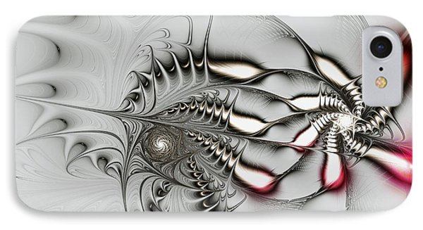 Aggressive Grey IPhone Case by Anastasiya Malakhova
