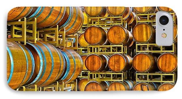 Aging Wine Barrels IPhone Case by Richard J Cassato