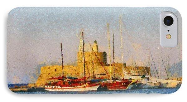 Agios Nikolaos Lighthouse IPhone Case by George Atsametakis