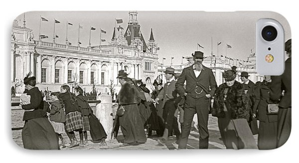 IPhone Case featuring the photograph Agricultural Building Omaha Expo 1898 by Martin Konopacki Restoration