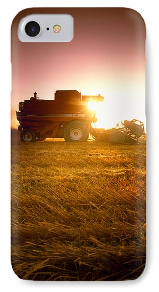 Agriculture - A Combine Harvests Wheat Phone Case by Mirek Weichsel