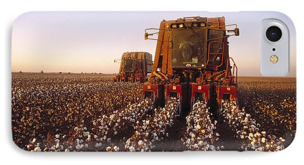Agriculture - Cotton Harvesting  San Phone Case by Ed Young