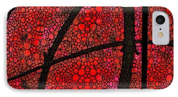 Ah - Red Stone Rock'd Art By Sharon Cummings Phone Case by Sharon Cummings
