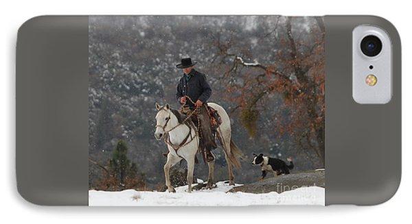 Ahwahnee Cowboy IPhone Case by Diane Bohna