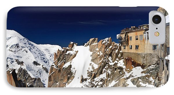 IPhone Case featuring the photograph Aiguille Du Midi -  Mont Blanc Massif by Antonio Scarpi