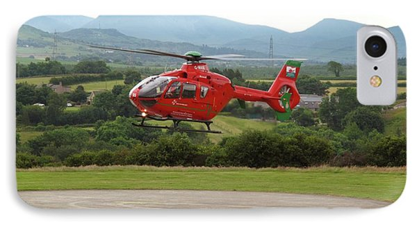 Air Ambulance Taking Off From Helipad IPhone Case