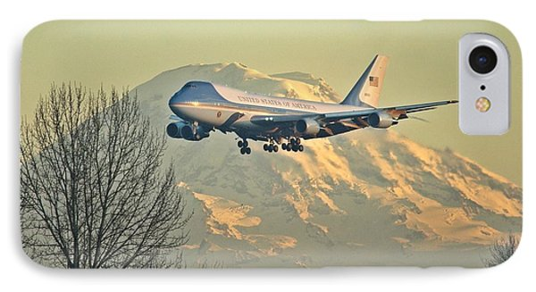 Air Force One And Mt Rainier IPhone Case