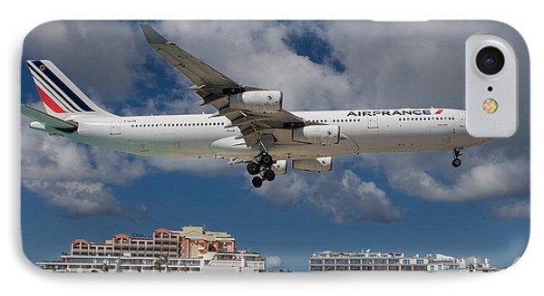 Air France Landing At St. Maarten IPhone Case by David Gleeson