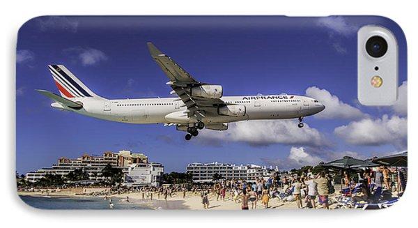 Air France St. Maarten Landing IPhone Case by David Gleeson