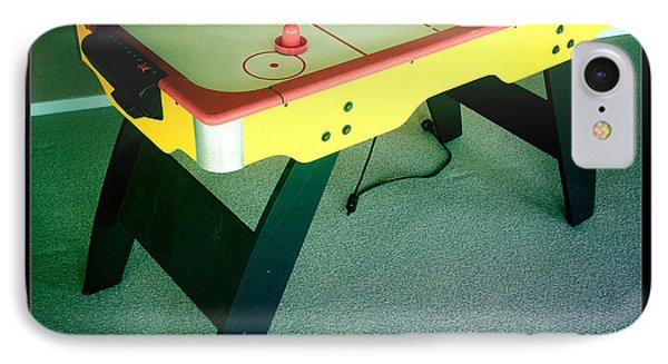 Air Hockey Table Phone Case by Les Cunliffe
