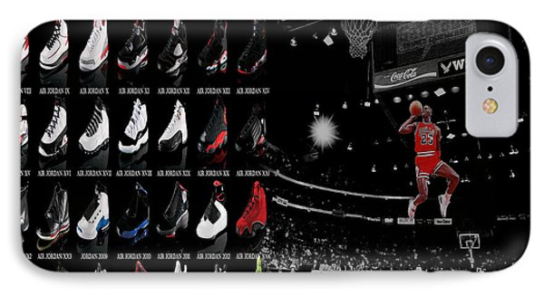 Air Jordan History Of Flight IPhone Case by Brian Reaves