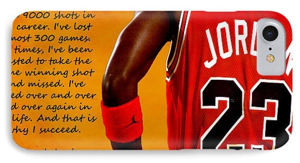 Air Jordan Success Quote IPhone Case