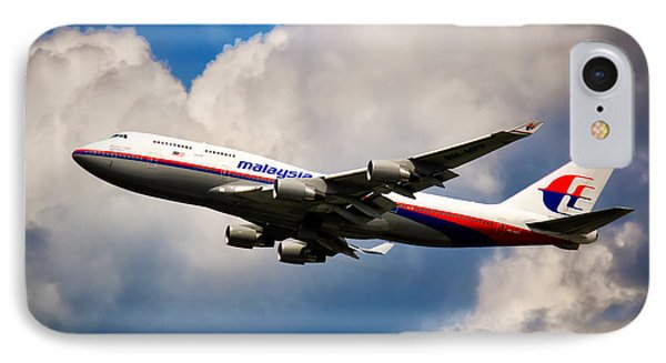 Malaysia Airlines B-747-400 IPhone Case by Rene Triay Photography