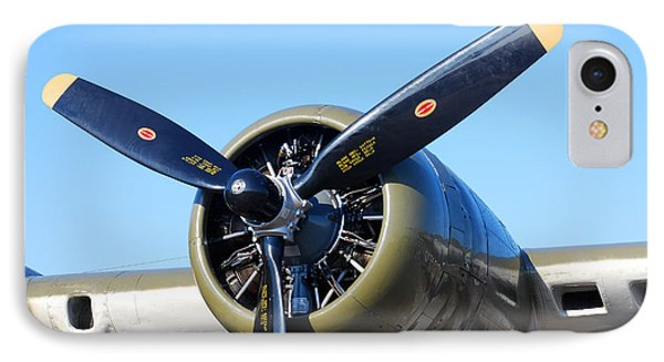 Air Power. B-17 Flying Fortress Engine IPhone Case by Connie Fox