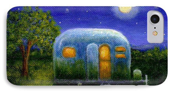 IPhone Case featuring the painting Airstream Camper Under The Stars by Sandra Estes