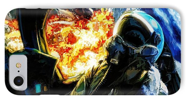 IPhone Case featuring the painting Air To Ground by Dave Luebbert