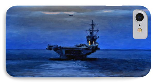 Aircraft Carrier Phone Case by Michael Pickett