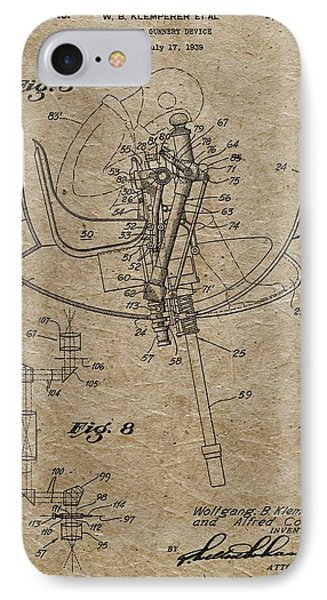 Aircraft Gunnery Device Patent IPhone Case