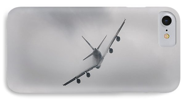 Airplane Flying In Bad Weather IPhone Case by Dutourdumonde Photography