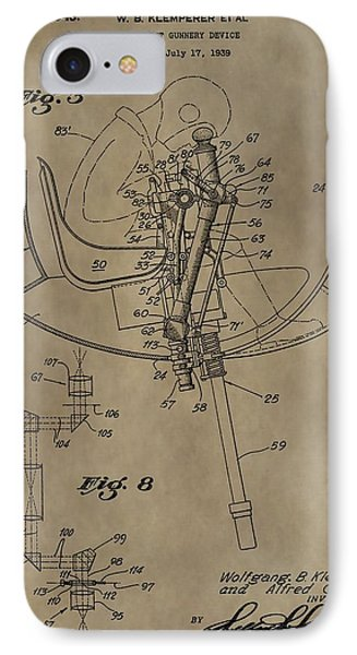 Airplane Gunnery Patent IPhone Case