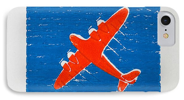 Airplane In The Blue Sky IPhone Case