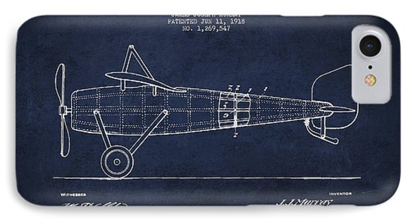 Airplane Patent Drawing From 1918 Phone Case by Aged Pixel