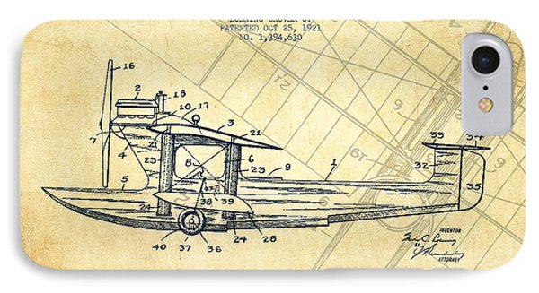 Airplane Patent Drawing From 1921-vintage IPhone Case by Aged Pixel