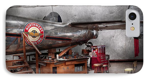 Airplane - The Repair Hanger  IPhone Case by Mike Savad