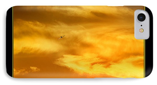 Airplane To The Sun IPhone Case by Thomas Bomstad