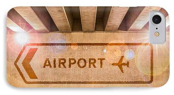 Airport Directions IPhone Case by Semmick Photo