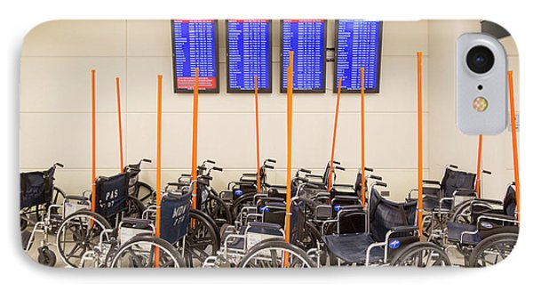 Airport Wheelchairs IPhone Case by Jim West