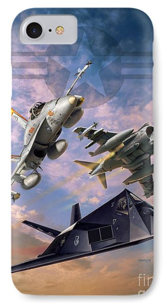 Airpower Over Iraq IPhone Case by Stu Shepherd