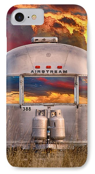 Airstream Travel Trailer Camping Sunset Window View IPhone 7 Case