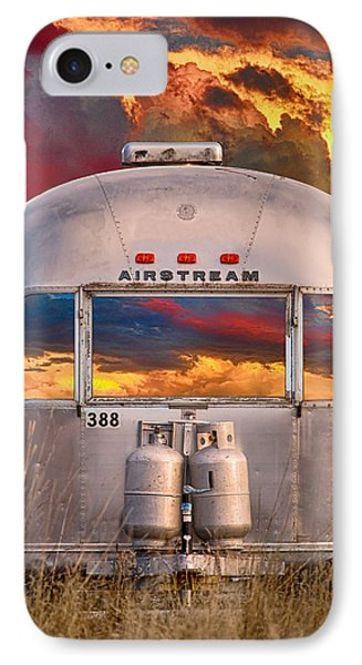 Airstream Travel Trailer Camping Sunset Window View IPhone Case by James BO  Insogna