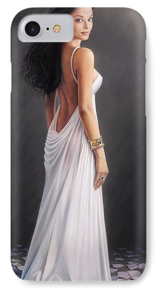 Aishwarya Rai - Oil On Canvas IPhone Case by Mike Roberts