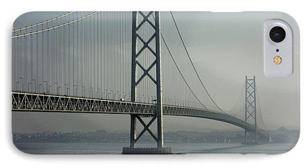 Akashi Kaikyo Bridge Posterization Phone Case by Daniel Hagerman