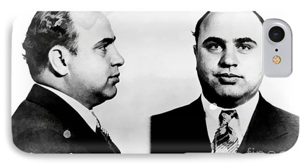 Al Capone Mug Shot IPhone Case by Edward Fielding