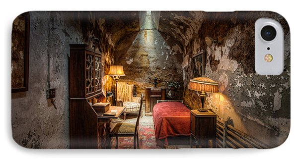 Al Capone's Cell - Historical Ruins At Eastern State Penitentiary - Gary Heller Phone Case by Gary Heller