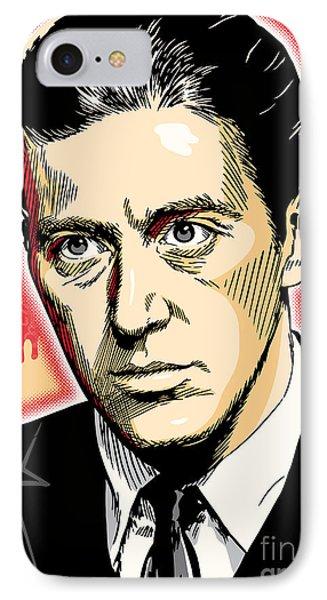 Al Pacino As Michael Corleone Pop Art IPhone Case by Jim Zahniser