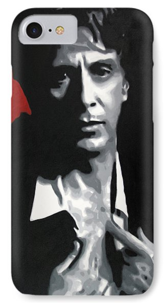 Al Pacino  IPhone Case by Luis Ludzska