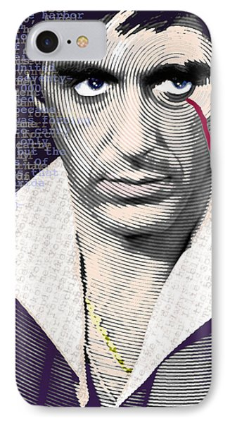 Al Pacino Scarface IPhone Case by Tony Rubino