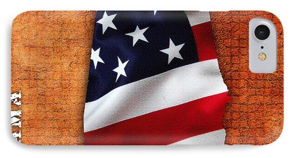 Alabama American Flag State Map IPhone Case