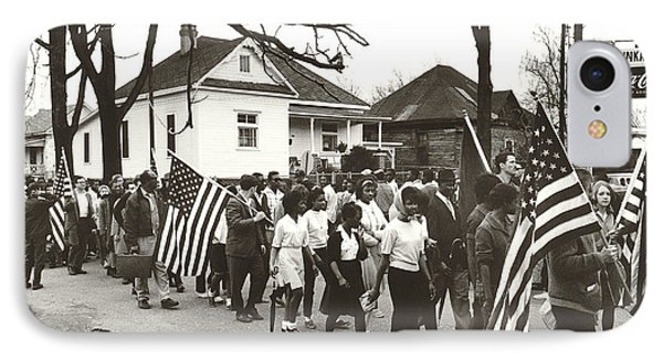 Alabama Civil Rights March IPhone Case by Peter Pettus