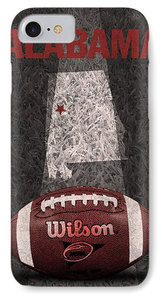 Alabama Football Map Poster IPhone Case by Design Turnpike
