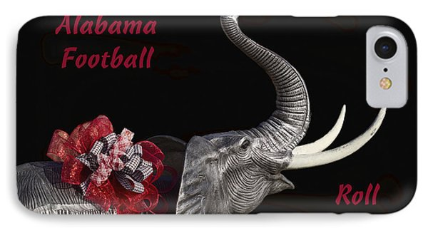 Alabama Football Roll Tide IPhone Case by Kathy Clark