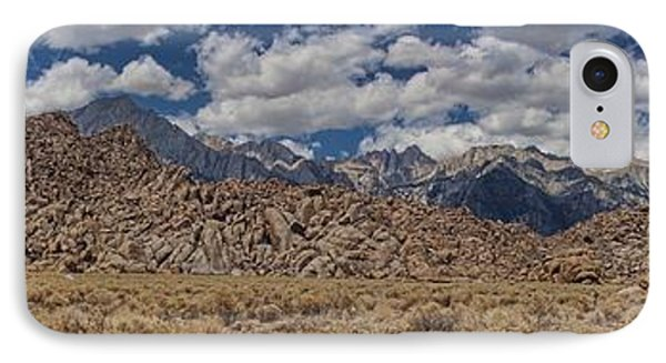 Alabama Hills And Eastern Sierra Nevada Mountains IPhone Case by Peggy Hughes