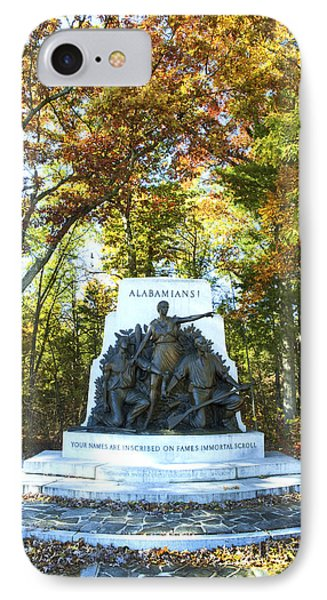 Alabama Monument At Gettysburg IPhone Case by Paul W Faust -  Impressions of Light