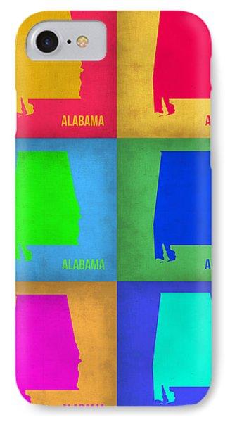 Alabama Pop Art Map 1 IPhone Case by Naxart Studio