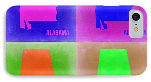Alabama Pop Art Map 2 IPhone Case by Naxart Studio